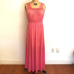 Vtg 60s Fashion Inn Pink Nightgown Size Small